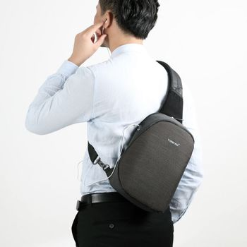 Tigernu Anti theft Crossbody Bag Casual Men Chest Bag Waterproof Sling Shoulder Bag Messenger Bag Fit 9.7″ IPad for Teenager