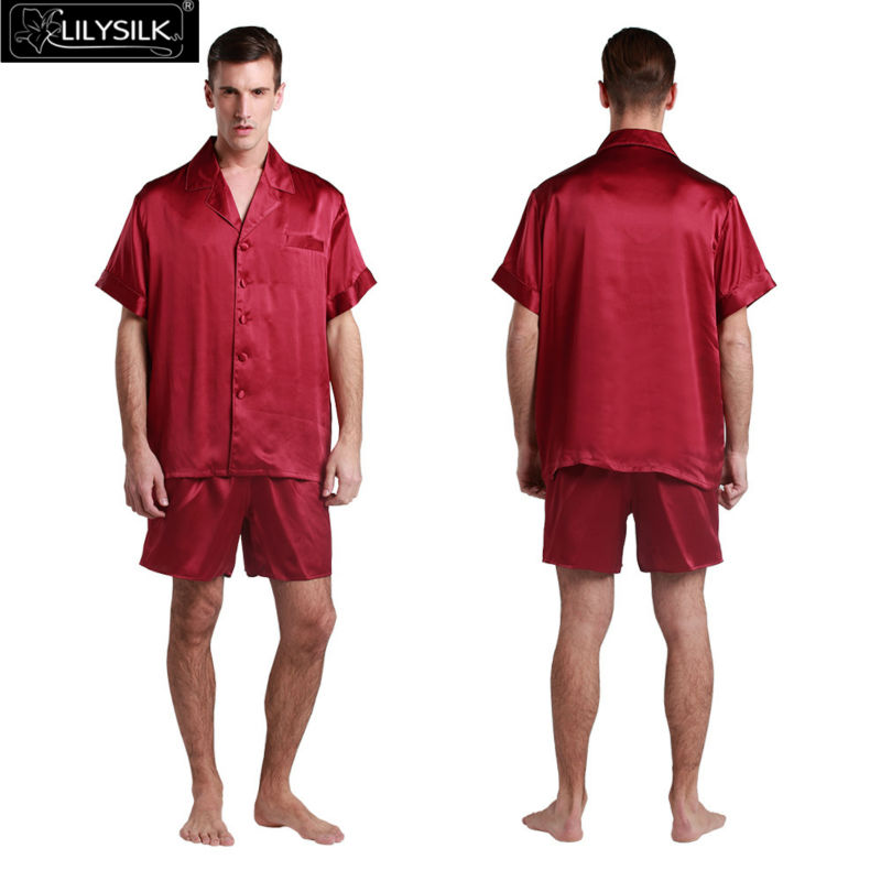 1000-claret-22-momme-classic-short-silk-pyjamas-set
