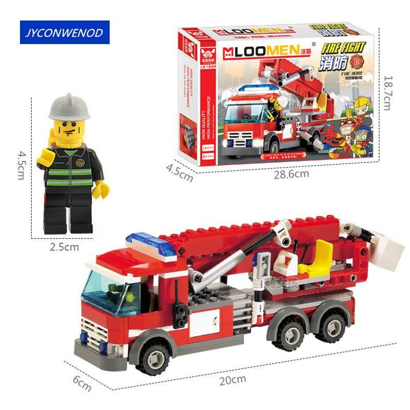 244 шт., Детский конструктор «пожарная машина»