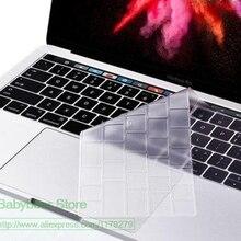Защитная крышка для клавиатуры Macbook Pro 13,3 ''& Pro 15,4'' с сенсорной панелью Американская версия чехол для клавиатуры A1706 A1707 A2159