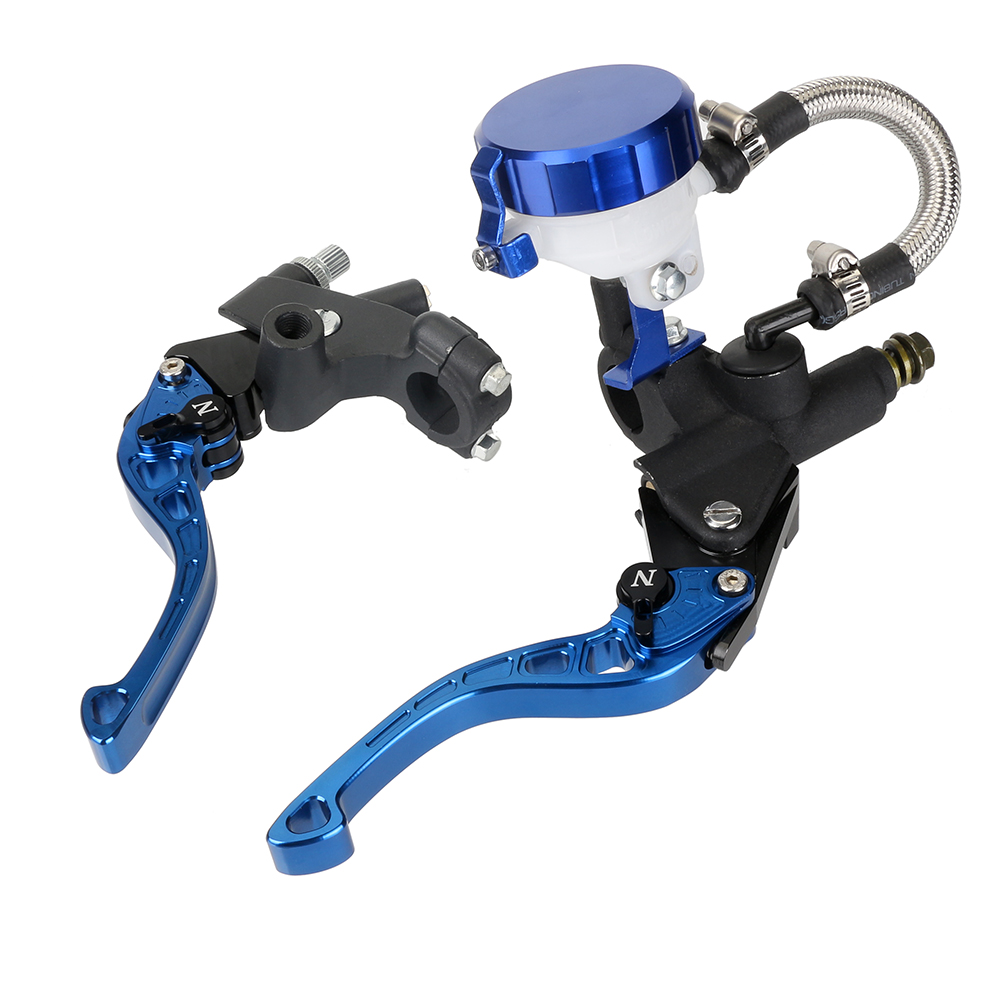 New Adjustable Motorcycle 7/8'' Clutch Brake Levers Master Cylinder Reservoir Motorbike Short Levers For Honda Suzuki Yamaha D20 cnc 22mm 7 8 clutch brake levers master cylinder reservoir for honda suzuki kawasaki yamaha ktm scooter dirt sport street bike