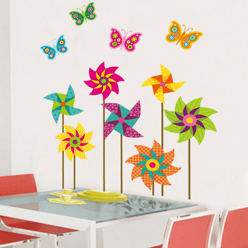 Aliexpress.com : Buy Windmill Flower Wall Sticker Home Decor Bedroom Wall  Decal For Kids Room Decal Baby House Vinyl Nursery Mural Poster DIY Jm8326  From ...