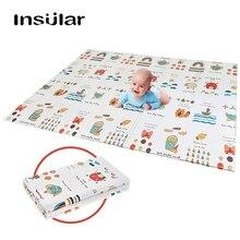 12 цветов 10 мм детский коврик для ребенка комната Ползания коврик складной детский коврик двухсторонний прочный водонепроницаемый складной с сумкой для переноски