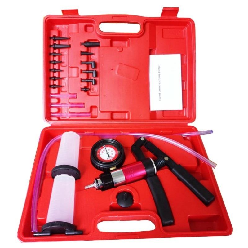 High Quality Car Auto Hand Held Vacuum Pistol Pump Brake Bleeder Adaptor Fluid Reservoir Tester Kit Tool Kits