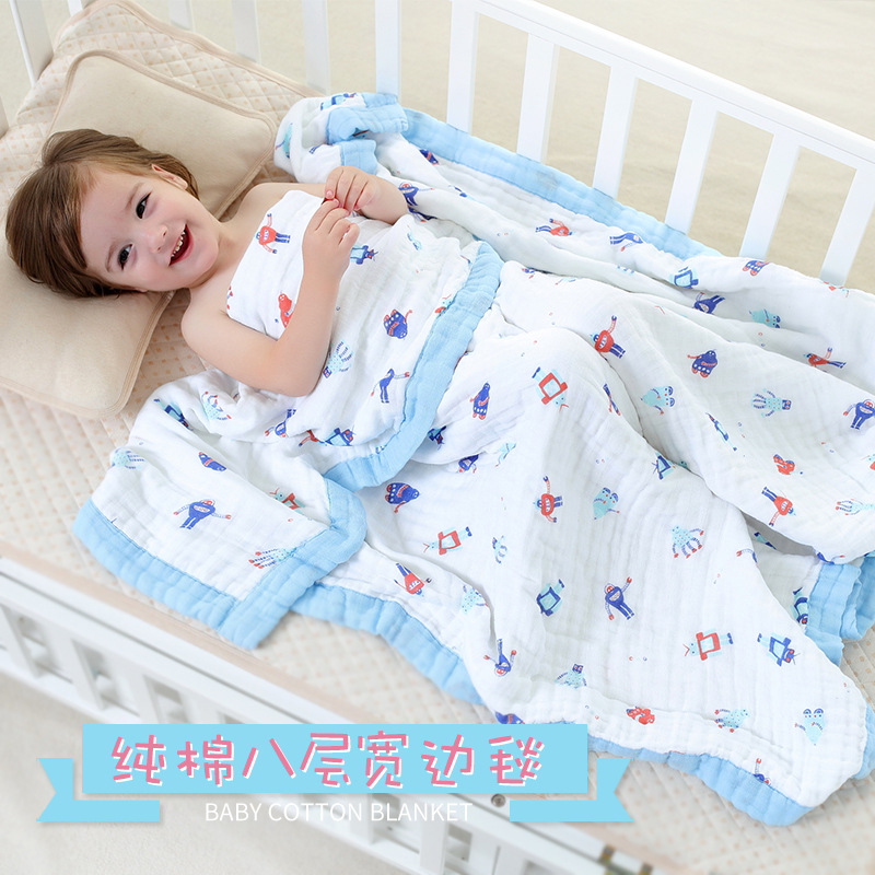 Eight Layer Cotton Baby Muslin Blanket Muslin Tree Swaddle Better Than Aden Anais Baby bamboo Blanket