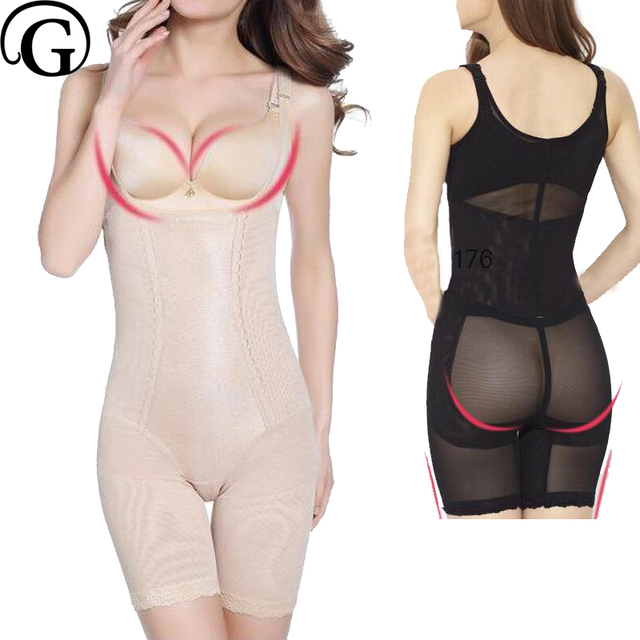 70bfdc3f75 PRAYGER Wholesale 100pcs Women Slimming full body Shapewear Control waist  Corset Open Butt Bodysuits