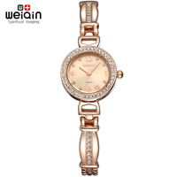 Weiqin Pearls Shell Dial Crystal Rose Gold Women S Bracelet Watches Luxury Brand Lady Fashion Dress