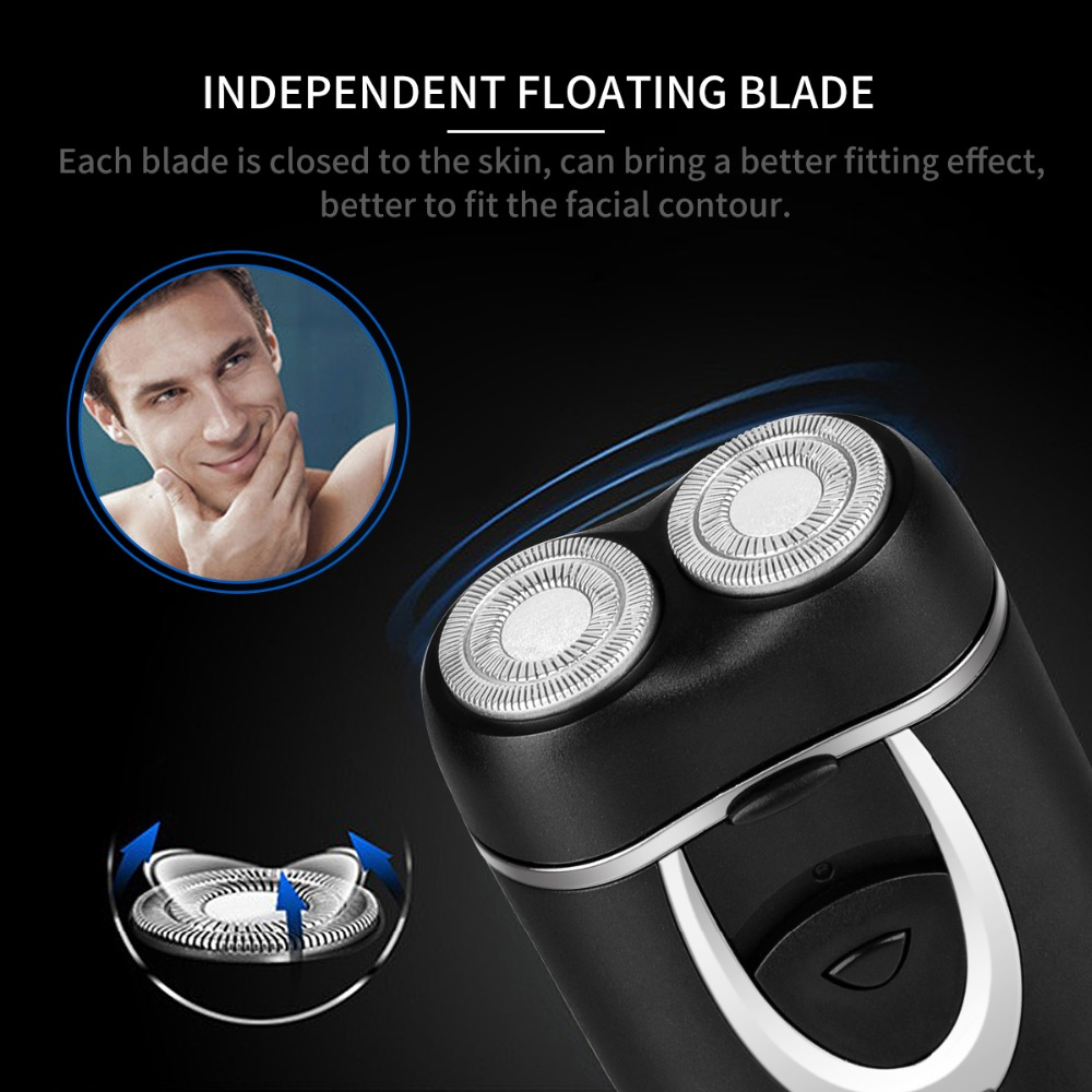 Independent Dual-Blade Portable Rechargeable Electric Shaver razor beard shaving machine barber face care men cutter trimmer 40 2017 hot sales new primitive man shaving machine 5 d waterproof rechargeable crime is portable travel man to the electric razor
