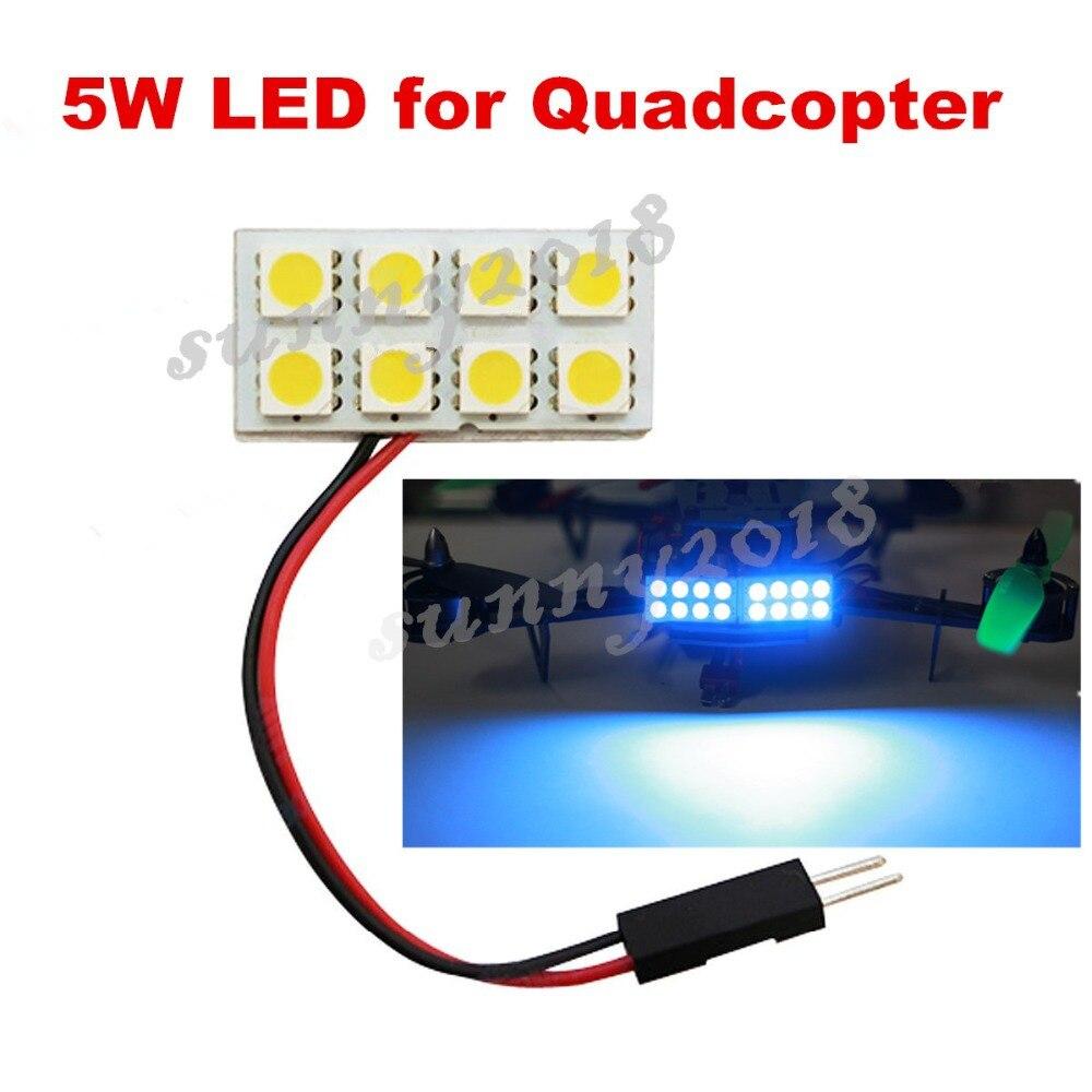 RC Night Flying 5W Super Bright LED Lights for Quadcopter Multirotor QAV250 ZMR250 280 300 ect