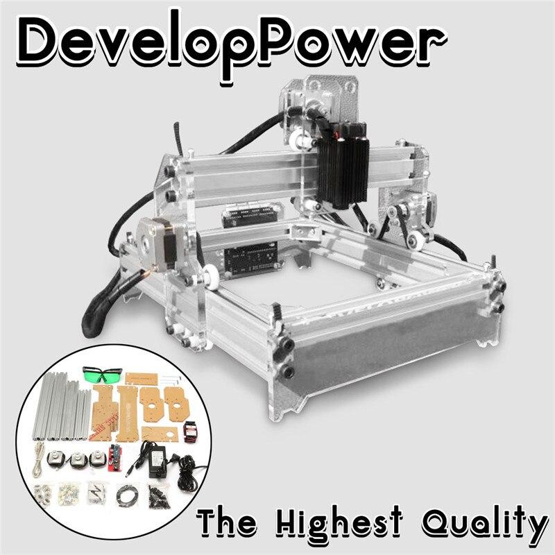 2000 mw A5 17x20 cm Laser Graveur Machine De Découpe De Gravure De Bureau CNC Imprimante DIY De Bureau Bois Cutter + laser Lunettes