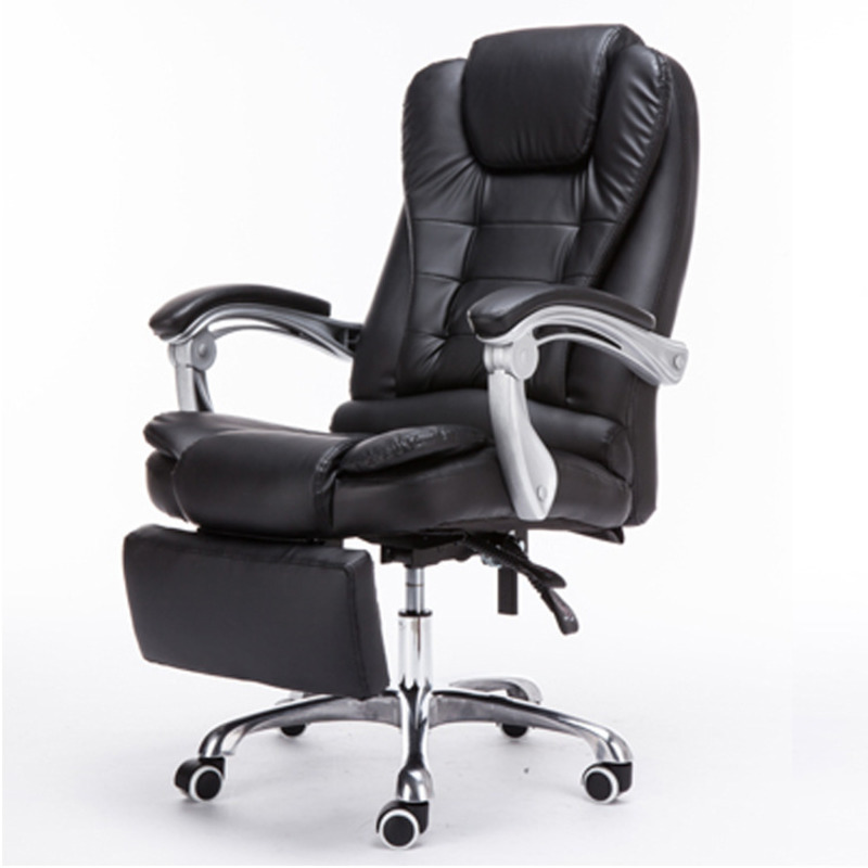Boss Adjustable Office Armchair Fashion Leather Computer Leisure Gaming Massage Chair Swivel Seat With Footrest
