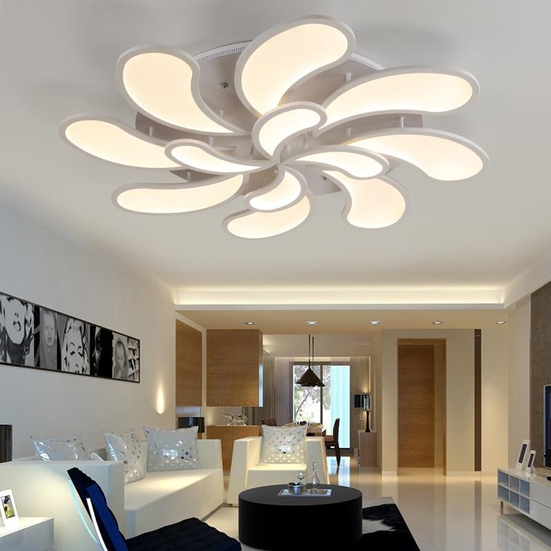 Chandelier Lights Shops In Chennai: Flower Acrylic LED Ceiling Light Modern Living Room