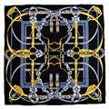 Cintos de moda de Impressão 100% de Seda Twill Lenço Das Senhoras Das Mulheres Praça Silk Cachecóis Xaile Wraps 90x90 cm Acessórios de Vestuário