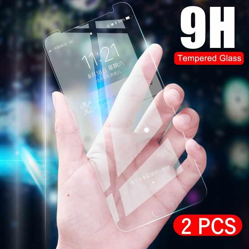 2 قطعة/الوحدة الزجاج المقسى لسامسونج غالاكسي J5 J4 J3 J6 J7 J8 A8 A6 زائد A5 J2 J250 2018 واقي للشاشة واقية
