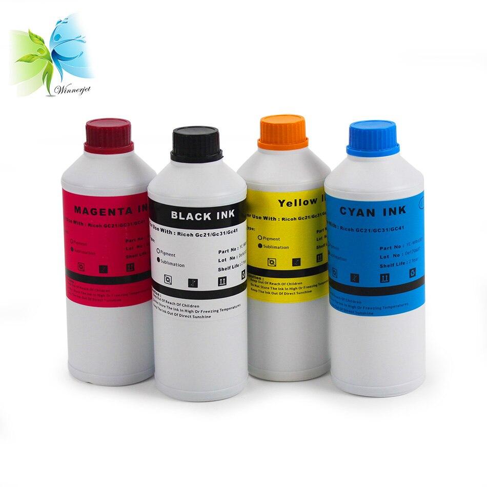 winnerjet hot selling gc41 ink for ricoh , no clogging sublimation used sg3110 sg7100