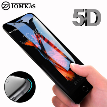 5D Round Curved Edge Tempered Glass For iPhone 6 6s Plus 7 8 X 11 11pro SE Full Cover Screen Protector Premium 5D Protective