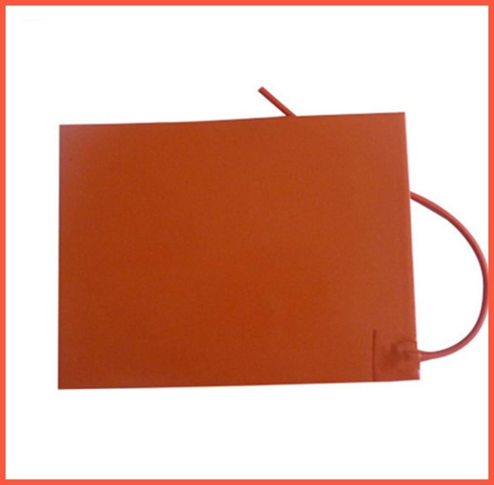 Tampon en silicone/riscaldatore letto per stampante 3d 200x250mm 24 v 200 w plaque chauffante chauffage industriel silicone coussin chauffant