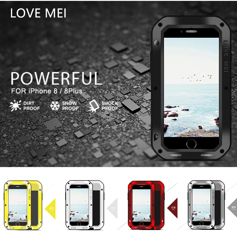 LOVEMEI EXTREME Cover For iPhone 8 Plus Case Drop proof Dirt proof Aluminum Metal Cover For