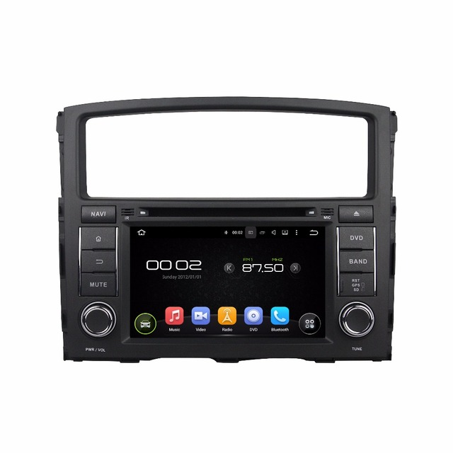 Quad Core 1024*600 Android 5.1 Car DVD GPS Navigation Player Car Stereo for MITSUBISHI PAJERO 2006-2012 Radio Wifi