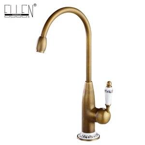 Image 2 - Keuken Kranen Antiek Brons Kraan voor Keuken Mengkraan Met Keramische Kraan Koud En Warm Aanrecht Tap Water Mixers 7513