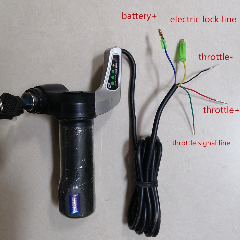 Zerodis Handlebar Grips 12V-99V Electric Bike Scooter Half Wrist Throttle Grip Handle Half Twist Throttle Electric Bike Motor Scooter Speed Controller /& Cable Set