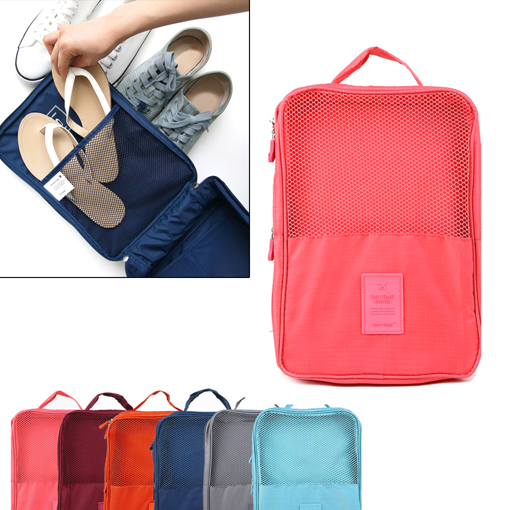 Hanging Organizers Shop For Cheap 6 Pairs Shoes Travel Storage Bag Organizer Tote Luggage Carry Pouch Holder Organizer Jade White