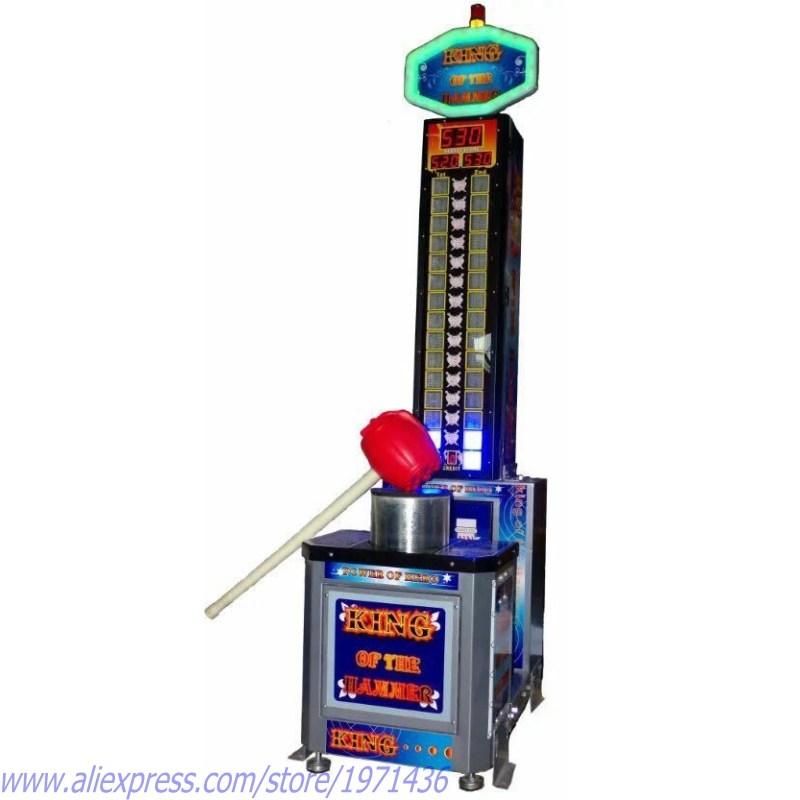Amusement Equipment Hercules Simulator Games Ticket Redemption Coin Operated Arcade Carnival Hammer Hit Game Machine