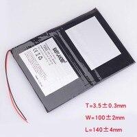 고용량 7200mAh 범용 배터리 33100140 Digma optima 10.6 3G TT1006MG 태블릿 배터리 3.7V 폴리머 리튬 이온 배터리