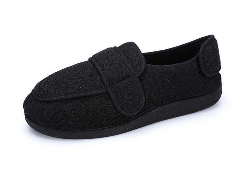 La Gonflé Pied Confortables Qualité De Chaleur Haute En Tissu Orteils Avec Les Ventes Large Être Noir vert Forme Ajustée Vieillesse Orteil Peut Chaussures nwXq6WC