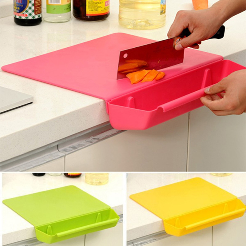 Practical Plastic Chopping Board Frosted Kitchen Cutting Board with Slot Cutting Vegetable Meat Tools Kitchen Stuff Accessories