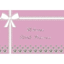 Laeacco Welcome Little Princess Silver Diamond Bow Birthday Scene Photographic Background Photography Backdrops For Photo Studio
