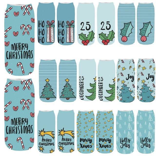 e4f49aabb70db High Quality Women's Socks 3D Cartoon Funny Christmas Socks Crazy Cute  Amazing Novelty Print Ankle Sock Comfortable Meias Soxs