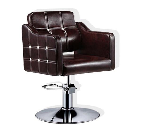 Hair Salons Haircut Chair. Upscale Barber Chair. Hairdressing Chair Lift Hydraulic Chairs Down