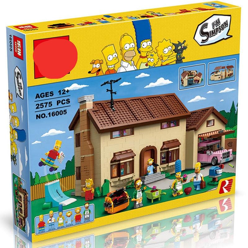 La maison Simpson le 16004 16005 71006 71016 KWIK-E-MART modèle jouets blocs de construction briques bricolage éducatif cadeaux de noël