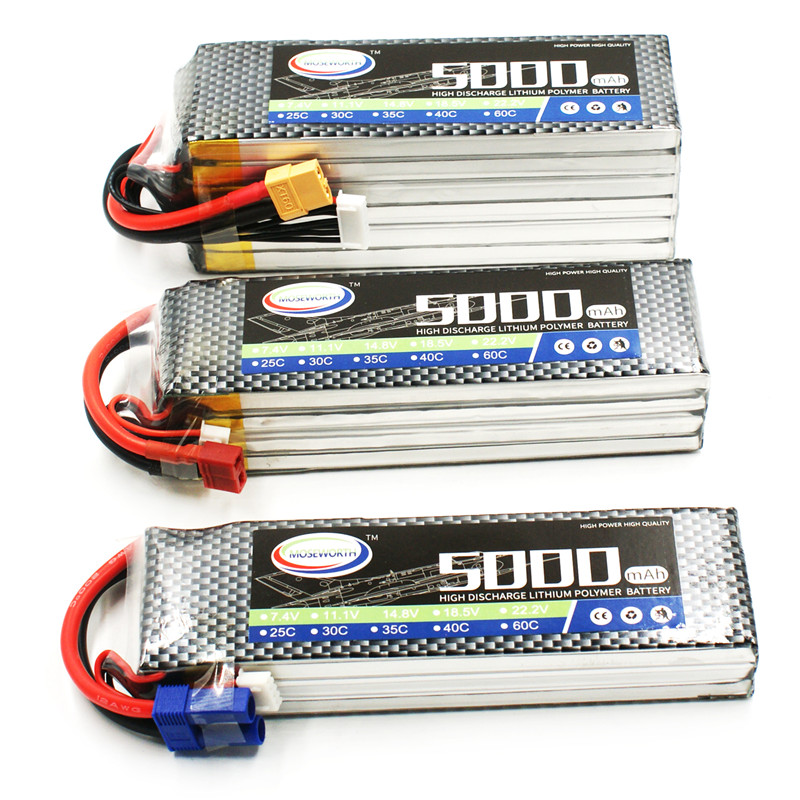 RC Toy LiPo Battery 6S 22.2V 5000mAh 60C Li-Po 6S For RC Drone Helicopter Quadcopter Airplane Car Boat RC Lipo Battery Max 120C