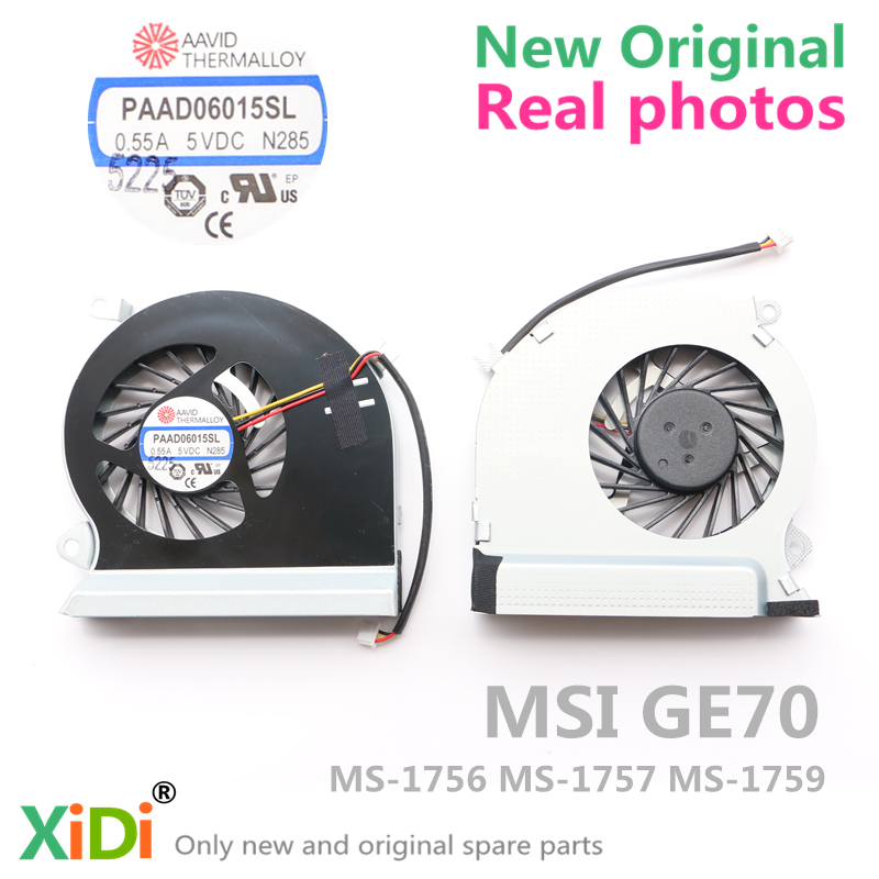 NEW Original CPU FAN FOR MSI GE70 MS-1756 MS-1757 MS-1579 CPU COOLING FAN tom tailor tom tailor 2031944 62 70 6593