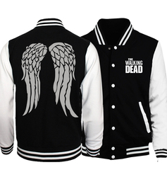 Zombie daryl dixon wings baseball jackets men women funny unisex sweatshirt 2017 spring fall fitness tracksuits.jpg 250x250