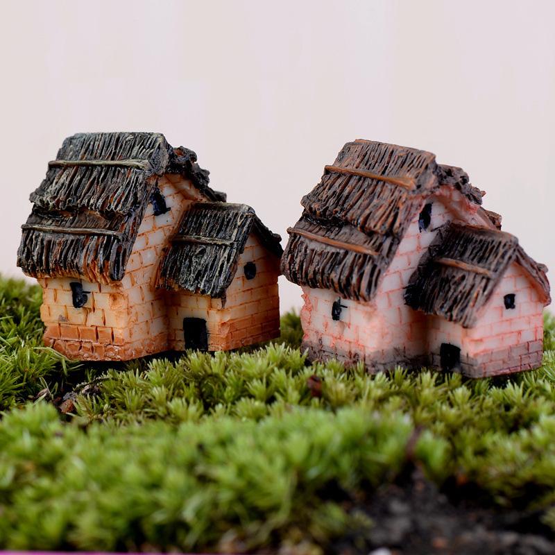 casa de paja unids xbj miniatura artesanal jardn paisaje planta maceta bonsai decoracin ornamento de