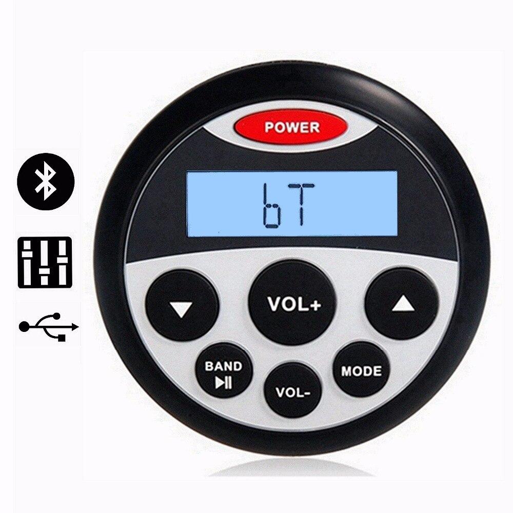 Récepteur stéréo marin étanche Bluetooth Audio lecteur MP3 Radio AM/FM entrée USB et AUX pour vtt moto/Yacht/Sauna/SPA