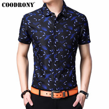 COODRONY Men Shirt Business Casual Mens Shirts 2019 Spring Summer New Arrivals Streetwear Slim Fit Short Sleeve S96049