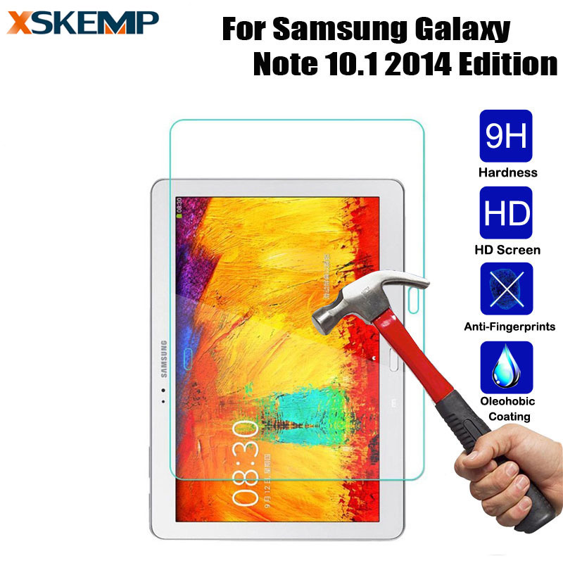 HD Tempered Glass For Samsung Galaxy Note 10.1 2014 Edition P600 P601 P605 Screen Protector Explosion proof Protective Film 2.5D