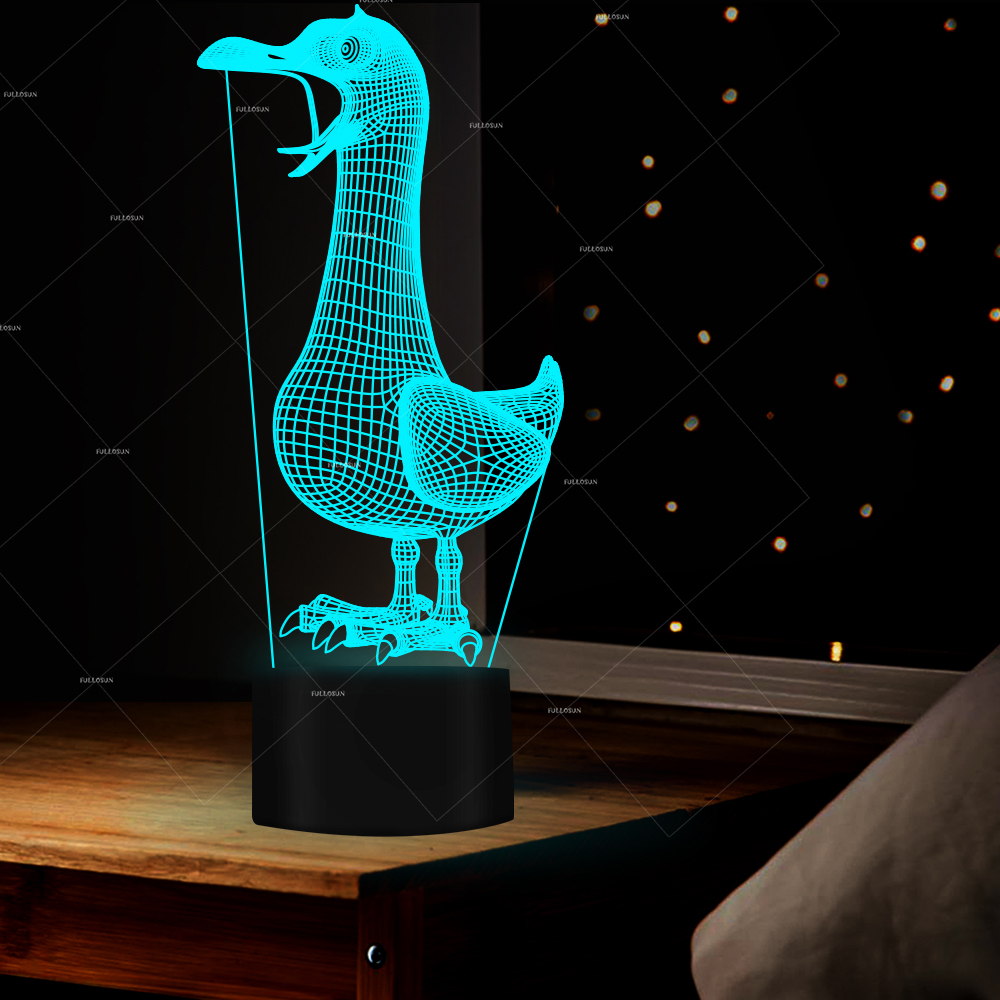 Nightlight Cute Mini Duck Night Light Childrens Bedroom Creative 3D LED Night Light Novelty Visual USB Lampara Table Lamp Light ...