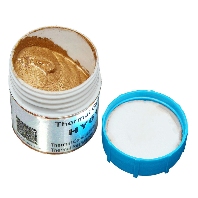 20g Thermal Conductive Grease Paste Silicone Golden Thermal Paste Heatsink Compound High Performance For CPU Chipset Cooling
