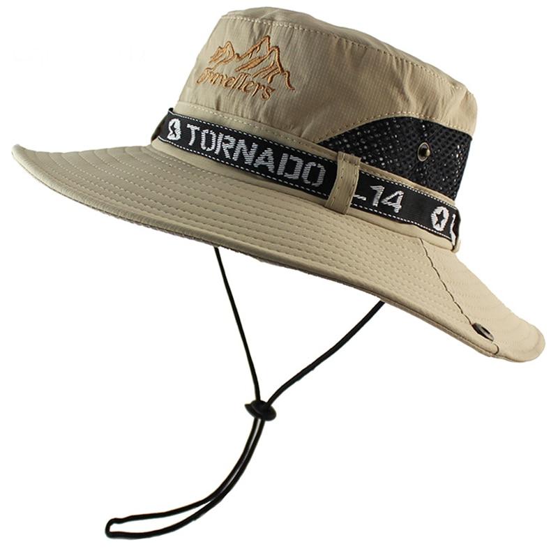 cc4f73eb UPF 50+ Sun Hat Bucket Summer Men Women Fishing Boonie Hat Sun UV ...