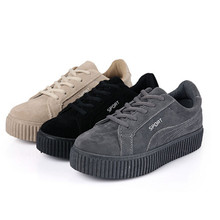 2017 Adult casual shoes women denim canvas rubber breathable lace-up platforms summer solid shoes for woman