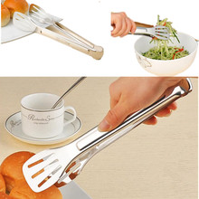 1 PC Multifunction 304 Stainless steel Food Tong Kitchen Salad Fruits Tong Cooking Food Tongs Grill