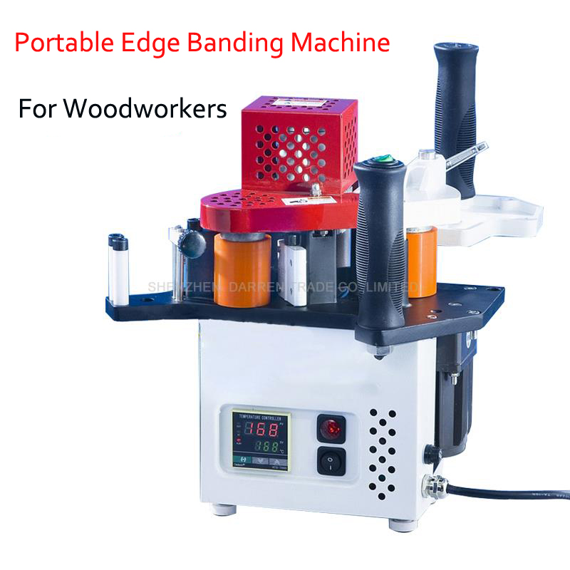 US $709 6 10% OFF|110V/220V Portable Edge Banding Machine Single Unit  Manual Edge Bander with Edge Thickness 0 3~3mm KM08-in Wood Based Panels