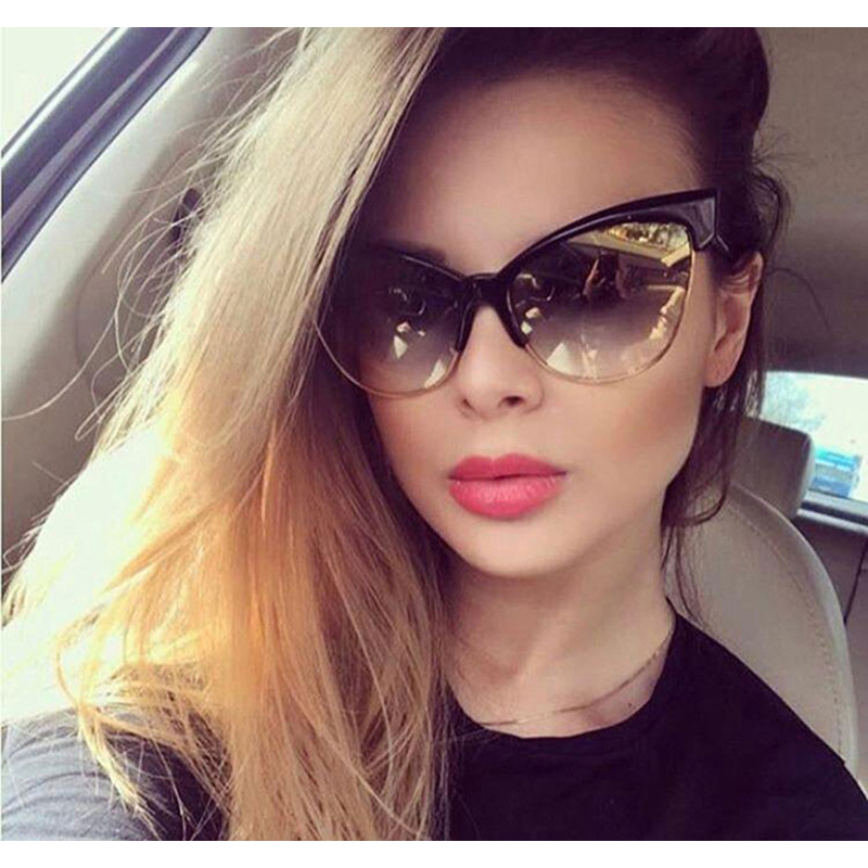 OUBR ladies trend cat eye sunglasses big frame brand designer luxury fashion UV400