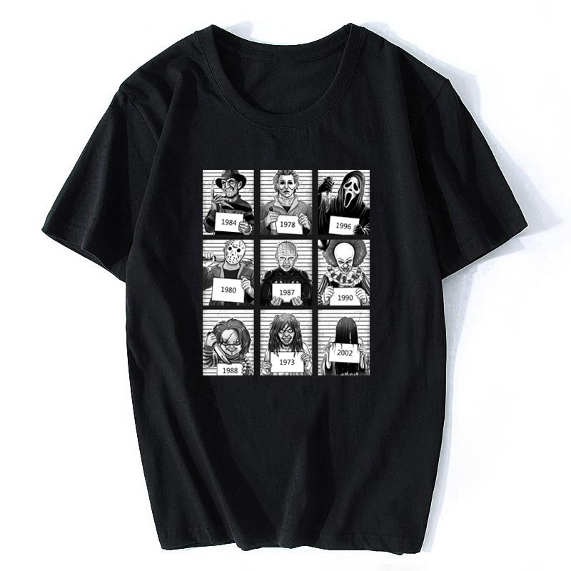 Fashion Jason Voorhees Freitag Der 13th Maske T Shirts Mens Freddy Horror Kult  Cotton Short Sleeved Death Funny Tees