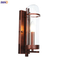 IWHD Ferrugem Wandlamp Industrial Loft Nordic LED Lâmpada de Parede de Ferro Luzes de Parede Do Vintage Iluminação Luminárias Para Casa Applique Murale